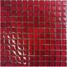 Mozaika szklana Czerwień Paski 30x30 2,3 cm 7F2