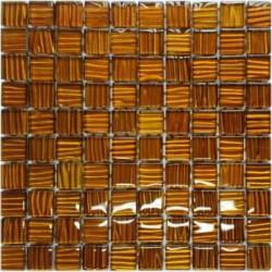 Mozaika szklana Bursztyn Paski 30 x 30 kostka 2,8 cm
