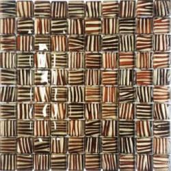 Mozaika szklana Złoto Paski 30 x 30 kostka 2,8 cm