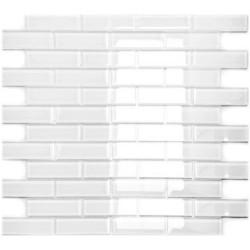 Mozaika Szklana Cegiełka Biała A
