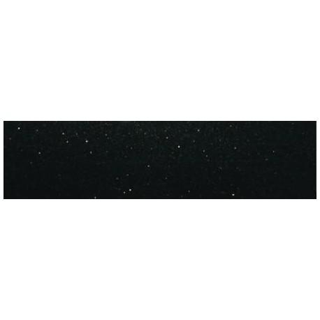 Dekor szklany Czarny Brokat Srebrny 15x60