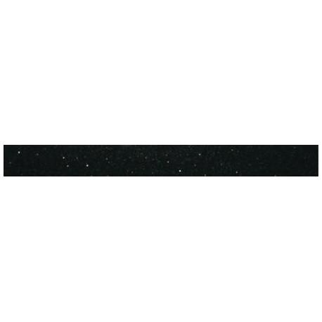 Listwa szklana Czarny Brokat Srebrny 6x60