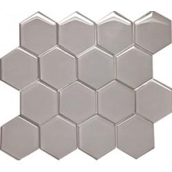 Mozaika Szklana Hex XL Grey 28x30