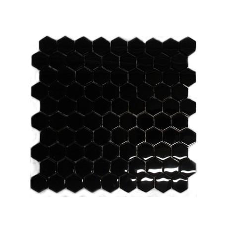 Mozaika Szklana Hex S Czarna 32,7x29,6