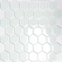 Mozaika Szklana Hex L Biała 32,7x31,8