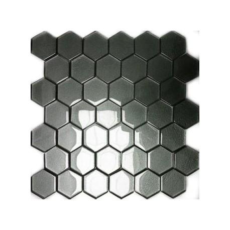 Mozaika Szklana Hex L Grafit 32,7x31,8