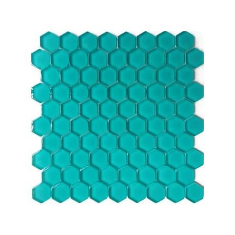 Mozaika Szklana Hex S Turkus 32,7x29,6
