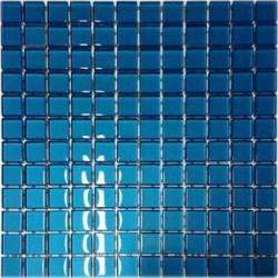 Mozaika szklana Niebieska 30 x 30 kostka 2,3 cm
