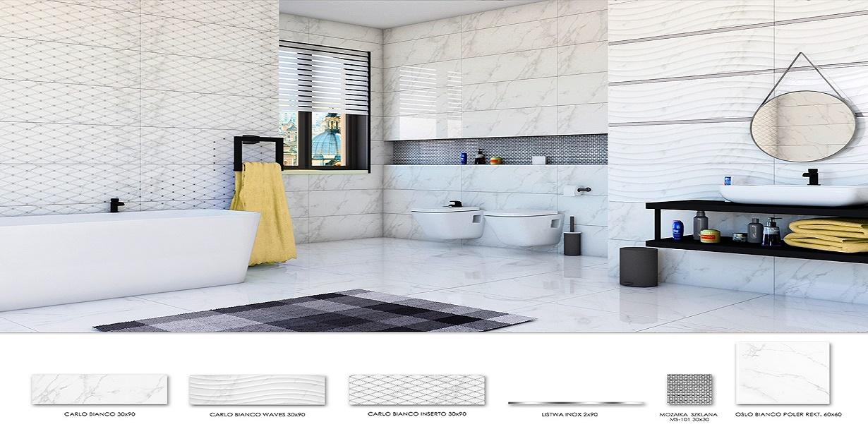 Płytki Ceramiczne Do Kuchni I łazienki Kafelki Białe I